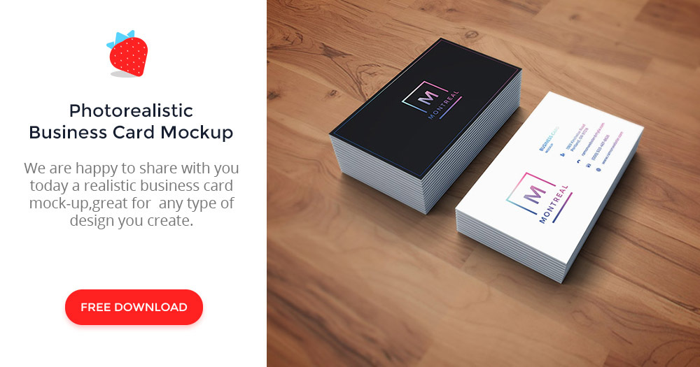 Photorealistic business card mockup graphberry colourmoves