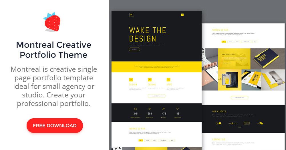 pr portfolio template - montreal creative portfolio psd web theme