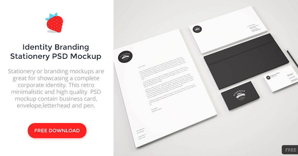 identity branding stationery psd mockup - graphberry, Powerpoint templates