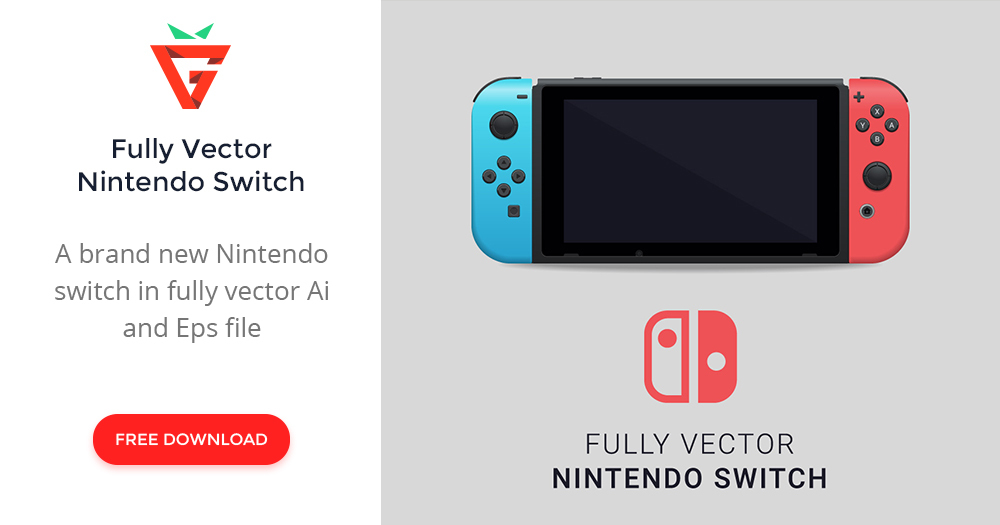 Fully Vector Nintendo Switch  graphberry