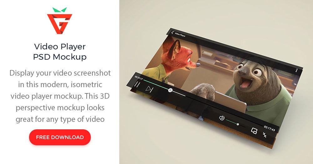 Video Player Psd Mockup Graphberry Com