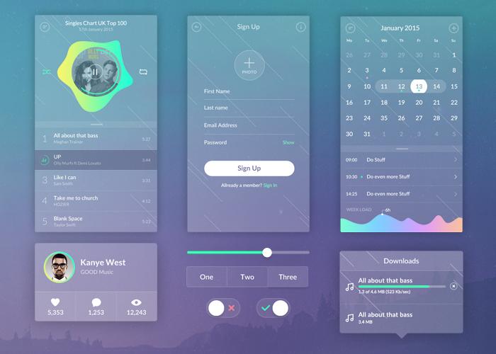 Zen Transparent UI Kit - graphberry com