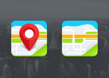 Two Vector Map Icons