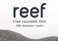 Reef - free rounded ORF font