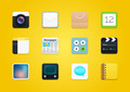 12 Modern Square Rounded Icons
