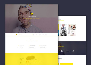 YellowMoon - Free PSD Landing Page