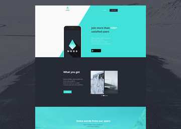 Nord - Simple App Landing One Page Template