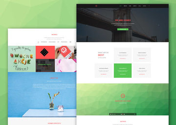 Gonex - Simple PSD Landing Page