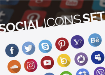 260 Free Social Icons Set In Different Styles