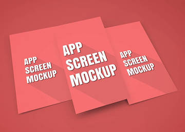 App Screen Showcase Mockup Vol.5