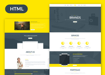 molly free bootstrap single page portfolio template