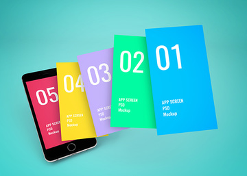 App Screen Showcase Mockup Vol.6