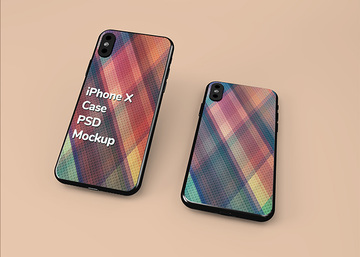 iPhone PSD Case Mockup
