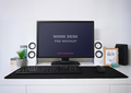 Work Desk PSD Mockup