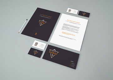 Simple Stationery PSD Mockup