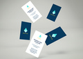 Falling Business Cards Mockup Vol.2