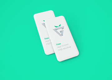 White Blank Mobile Screens Mockup
