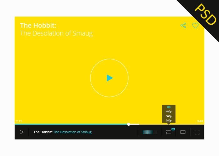 Psd Video Player Ui Graphberry Com