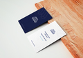 Business Cards With Wooden Board