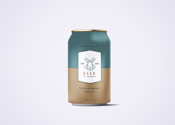 330ml Soda Or Beer Can Mockup
