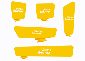 Vector Yellow Banners
