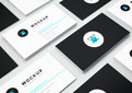 Isometric Business Card Mockup Vol.3