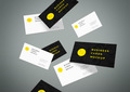 Flying Business Cards Mockup Vol.4