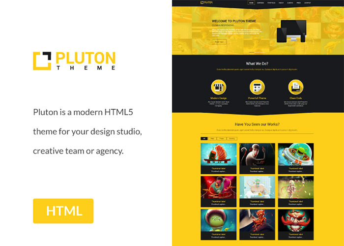 Pluton - Free Single Page Bootstrap Html Template - graphberry.com