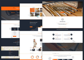 Momentio - Single Page PSD Template