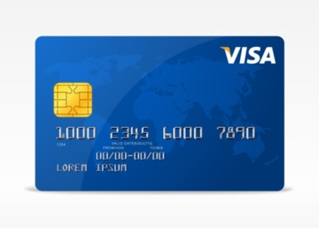 Free Vector Visa Credit Card