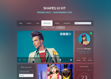 Free Shapes UI Kit
